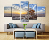 Inukshuk (Symbol of Unity & Strength) - 5 piece Canvas - EpicKanvas