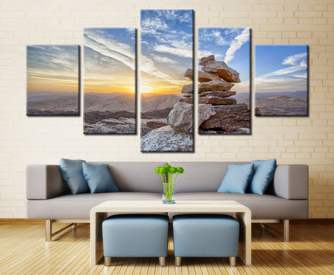Inukshuk (Symbol of Unity & Strength) - 5 piece Canvas