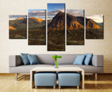 Natural mountain - 5 piece Canvas