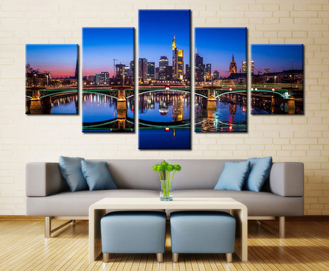 Lighted Bridge (Germany) - 5 piece Canvas