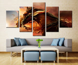 Running Horse - 5 piece Canvas