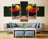 Family of Parrot - 5 piece Canvas - EpicKanvas