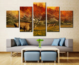 Howling Deer in Forest - 5 piece Canvas - EpicKanvas
