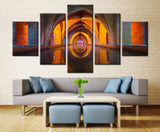 tower of many colors - 5 piece Canvas