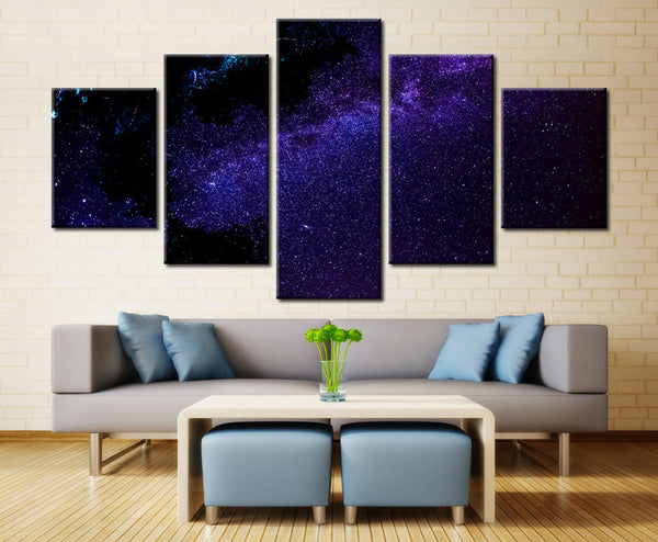 Blue Sky with Stars - 5 piece Canvas