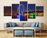 Exhibition in Town - 5 piece Canvas