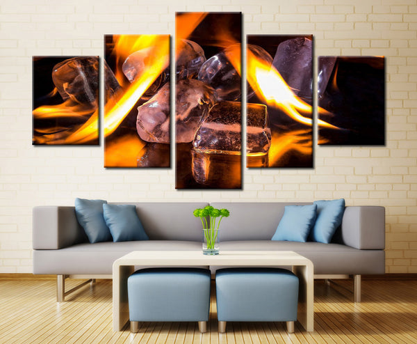 Stone and lighting - 5 piece Canvas - EpicKanvas