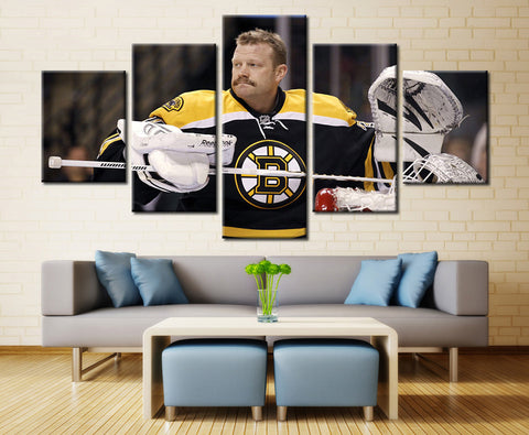 Hockey player - 5 piece Canvas