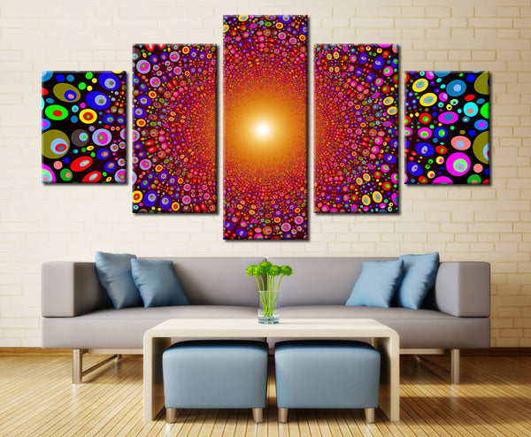 Colors painting  - 5 piece Canvas