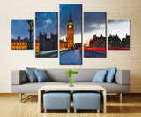 Palace of Westminster - 5 piece Canvas