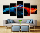 5 piece Multi Color Water Spill Canvas For Home & Office Decor - EpicKanvas