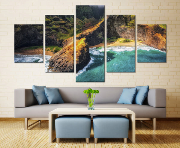 Natural Mountain- 5 piece Canvas - EpicKanvas