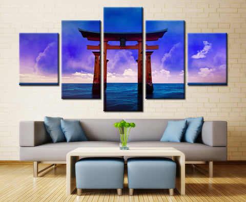 Natural Sea and Sky - 5 piece Canvas