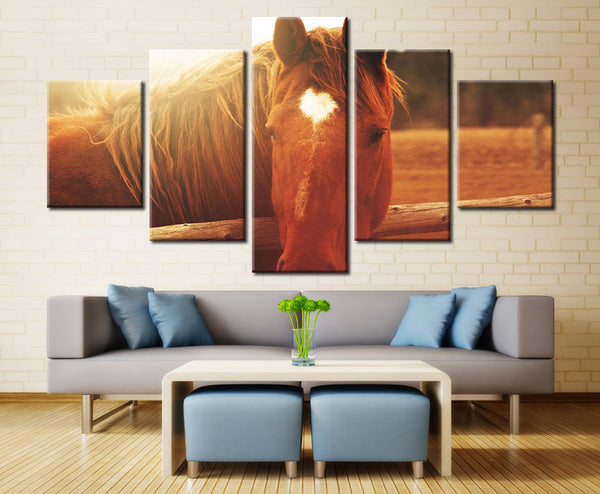 Relaxing Horse - 5 piece Canvas