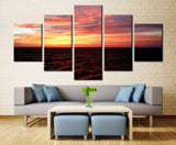 Evening sea - 5 piece Canvas
