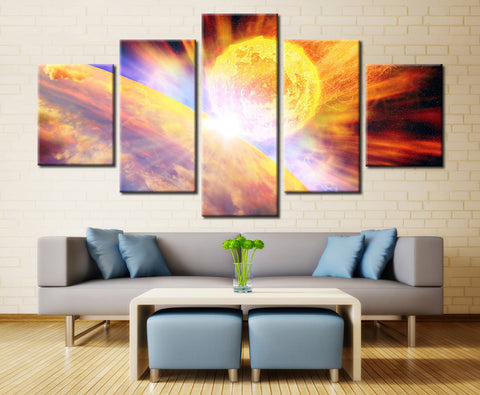 Sun Revolving Around Earth - 5 piece Canvas