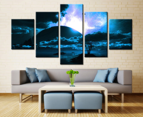 Natural sea and tree - 5 piece Canvas - EpicKanvas