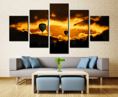 Cappadocia Balloon Evening Shot - 5 piece Canvas