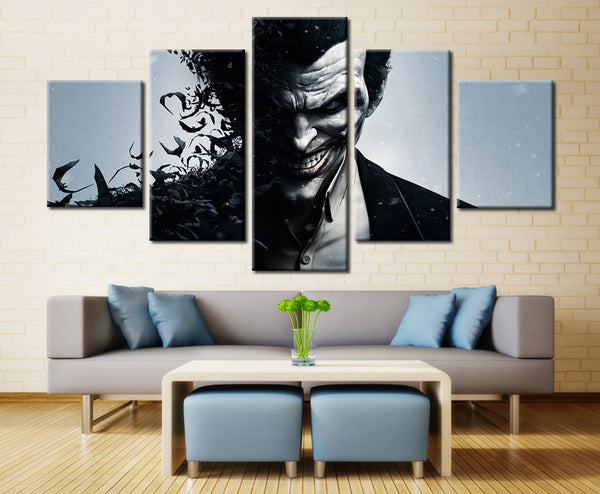 Arkham Origins Joker - 5 piece Canvas - EpicKanvas