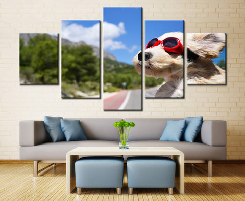 Super dog - 5 piece Canvas