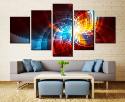 Colorful Flower of Life - 5 piece Canvas