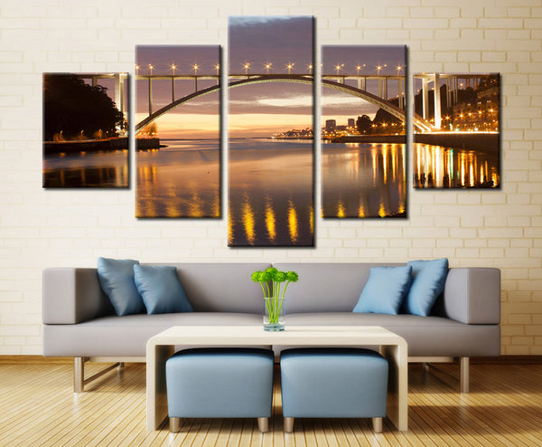 Ponte Arrbida (Bridge), Portugal - 5 piece Canvas