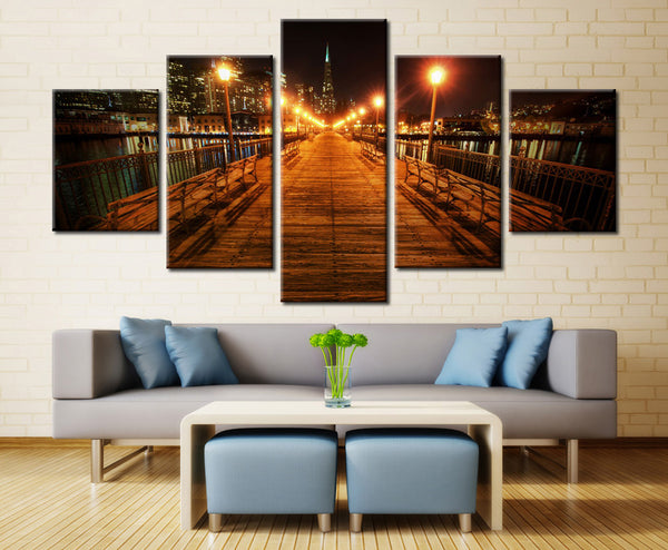 Bridge Over the River - 5 piece Canvas