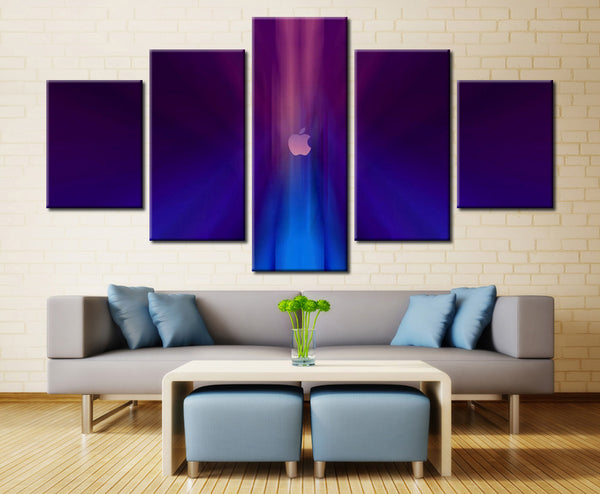 Apple Logo  - 5 piece Canvas