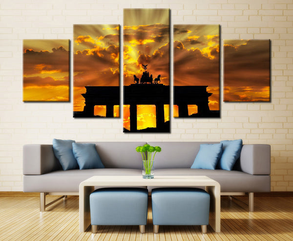 Natural sky - 5 piece Canvas
