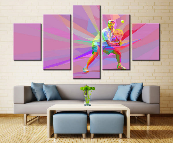 Badminton Player Abstract Art - EpicKanvas