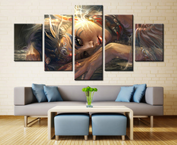 Game heroin - 5 piece Canvas