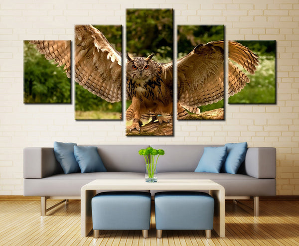 Natural forest in Owl - 5 piece Canvas