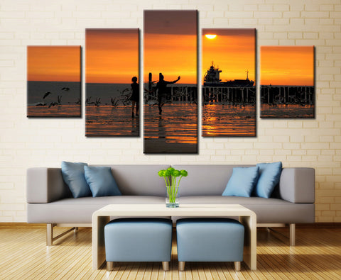 Natural sun and sky - 5 piece Canvas