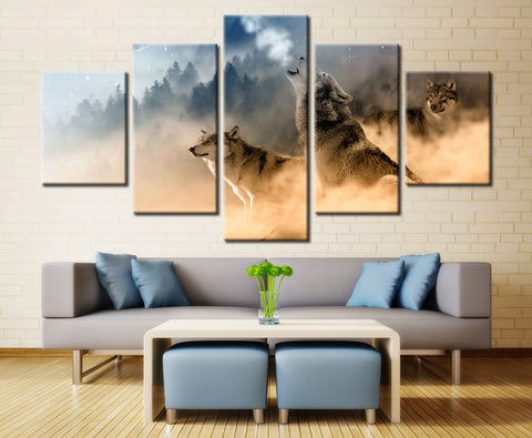 Winter mountain dog - 5 piece Canvas