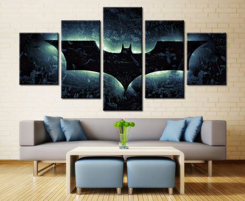 Bat - 5 piece Canvas