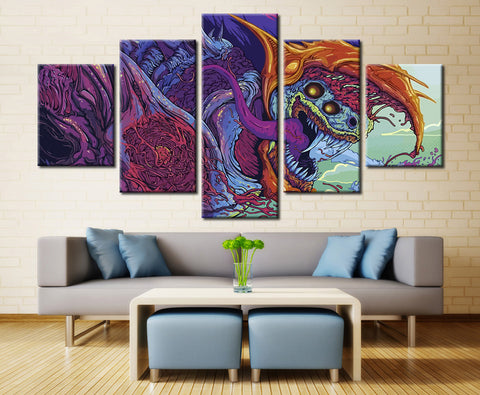 Imaginary Animal Painting - 5 piece Canvas
