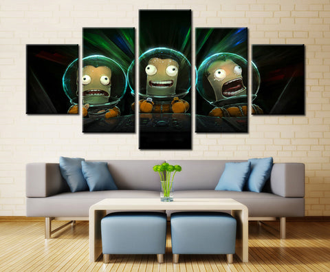 Kerbal Space Program Cartoons - 5 piece Canvas
