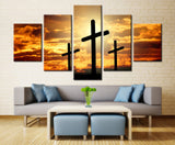 Natural sky and Land - 5 piece Canvas