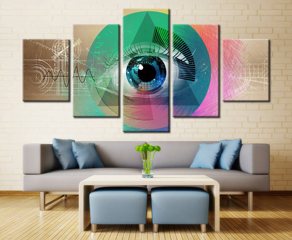 Eye Design  - 5 piece Canvas