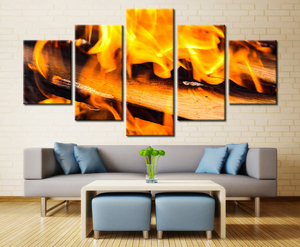 Fire Wood - 5 piece Canvas - EpicKanvas