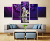 White Doll and Tree  - 5 piece Canvas - EpicKanvas