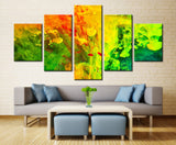 Colors smoke painting - 5 piece Canvas