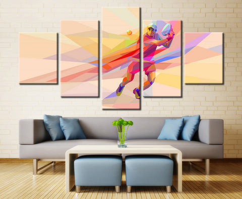 Tennis Player Abstract Canvas Art - EpicKanvas