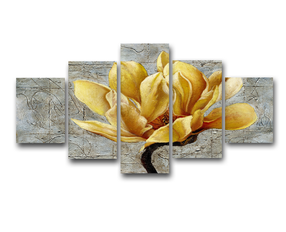 5 pcs yellow flowers design canvas painting - 5 pieces Canvas yellow ...