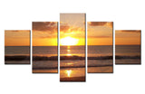 Evening sunset sea beach - 5 piece Canvas - EpicKanvas