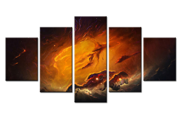5 Piece Moon Soil Canvas For Home & Office Decor - EpicKanvas