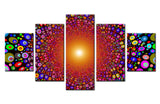 5 Piece Sun Abstract Canvas For Home & Office Decor - EpicKanvas