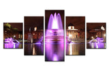 Waterfall Lighting - 5 piece Canvas - EpicKanvas
