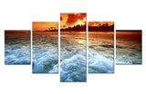 Natural Sky and sea Beach - 5 piece Canvas