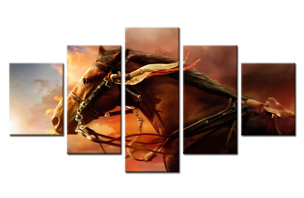 Running Horse - 5 piece Canvas - EpicKanvas